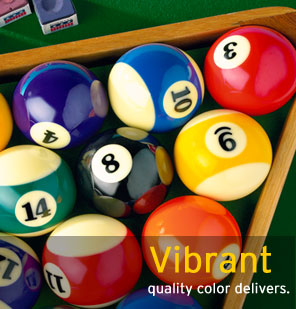 Vibrant quality color delivers.